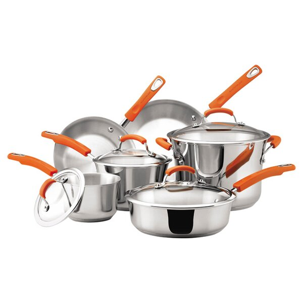 6-Piece Stainless Steel Cookware Set by Rachael Ray