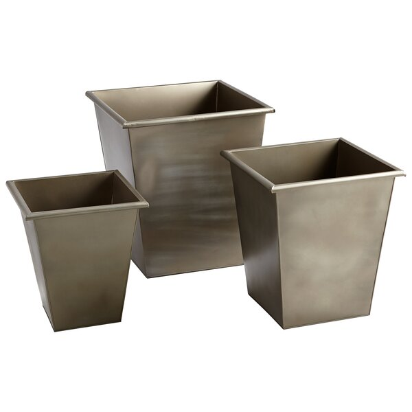 Mezzanine 3-Piece Iron Pot Planter Set by Cyan Design