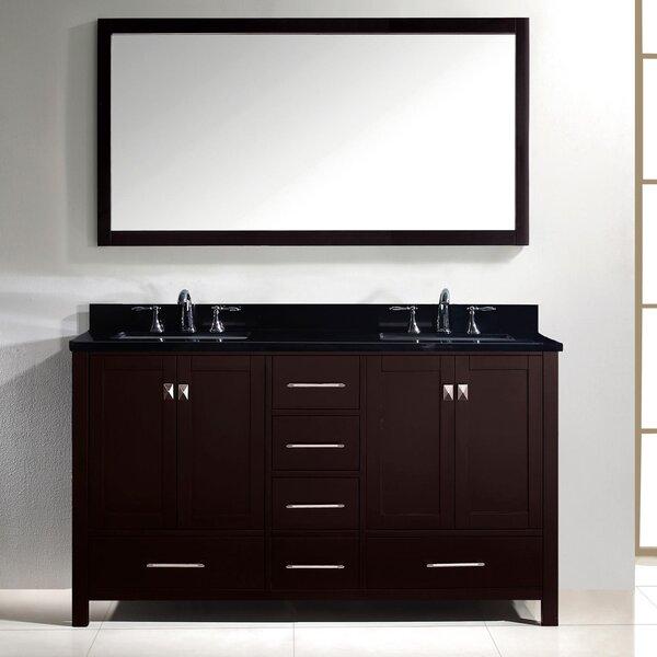 Raishon 61 Double Bathroom Vanity Set with Mirror by Willa Arlo Interiors