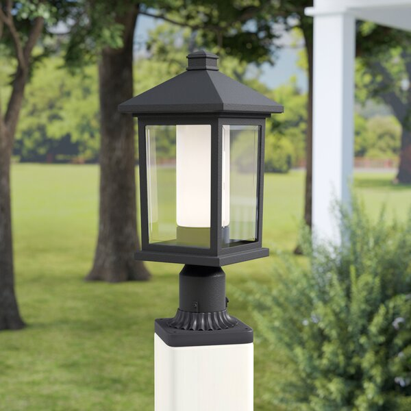 Olive Outdoor 1-Light Rectangle Pier Mount Light by Andover Mills