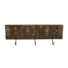 Wooden Plaque Wall Hook (Set of 2) by Screen Gems