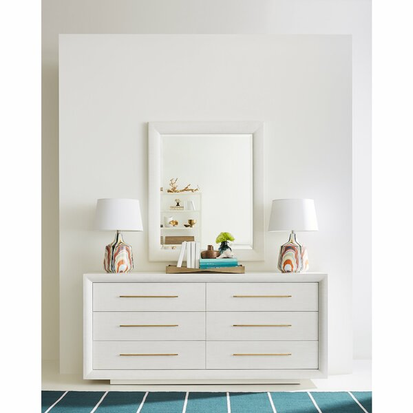 Panavista 6 Drawer Double Dresser with Mirror by Stanley Furniture