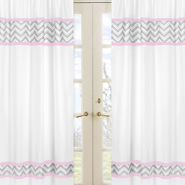 Zig Zag Curtain Panels (Set of 2) by Sweet Jojo Designs