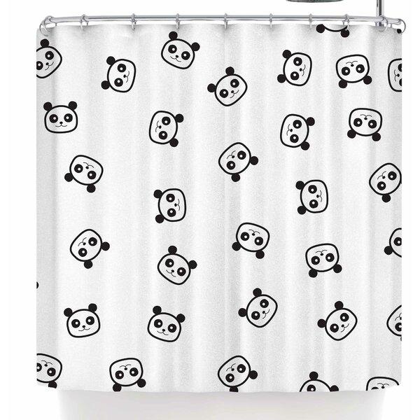 Tobe Fonseca Pandamonio Panda Shower Curtain by East Urban Home