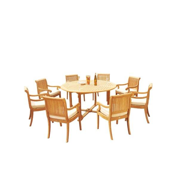 Massenburg 9 Piece Teak Dining Set by Rosecliff Heights