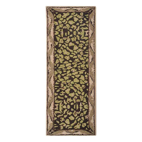 Hetzel Vintage Hand-Tufted Wool Brown/Beige Area Rug by Bloomsbury Market