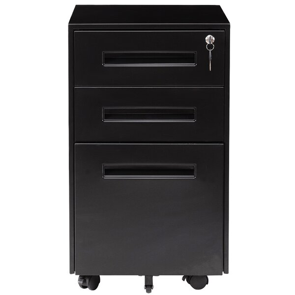 Hickmon 3-Drawer Vertical Filing Cabinet