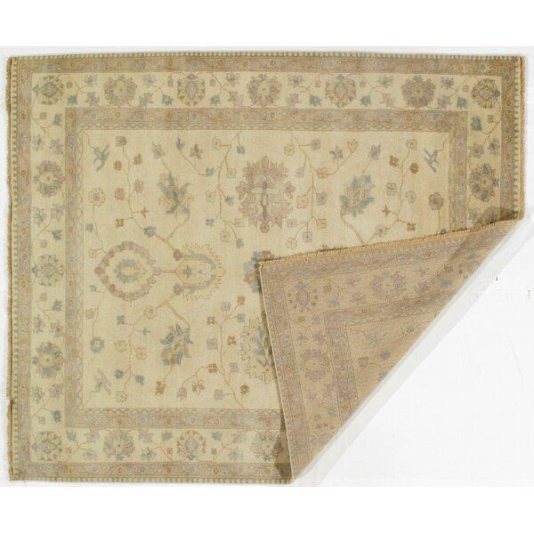 Arnett Original Oushak Design Hand-Knotted Wool Beige/Tan Area Rug