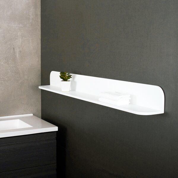 Margo Solid Surface 4.75 W x 47.25 H Bathroom Shelf