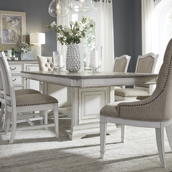 Jersey Trestle Extendable 7 Piece Dining Set by Ophelia & Co. Ophelia & Co.