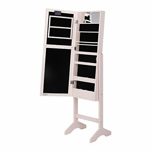 Free Standing Jewelry Armoire with Mirror by Beautify