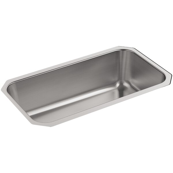 Undertone Large Under-Mount Single-Bowl Kitchen Sink by Kohler