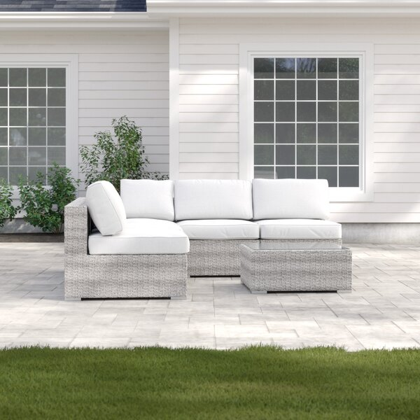 Deandra 6 Piece Sectional Seating Group with Cushions by Sol 72 Outdoor