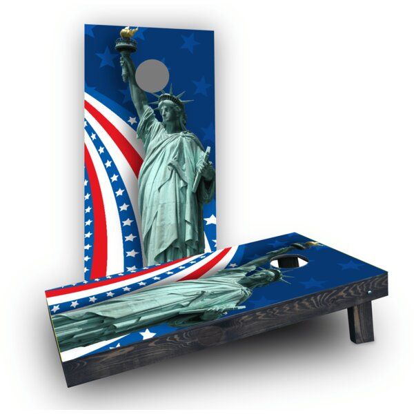 America Theme Cornhole Game Set by Custom Cornhole Boards