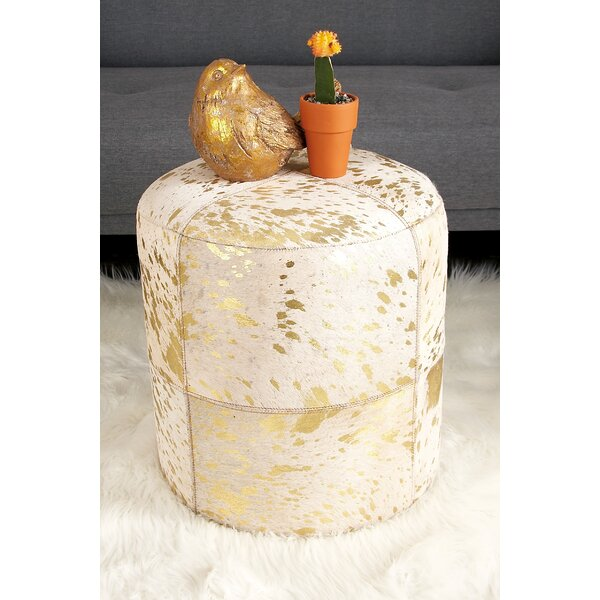 Leather Pouf by Cole & Grey