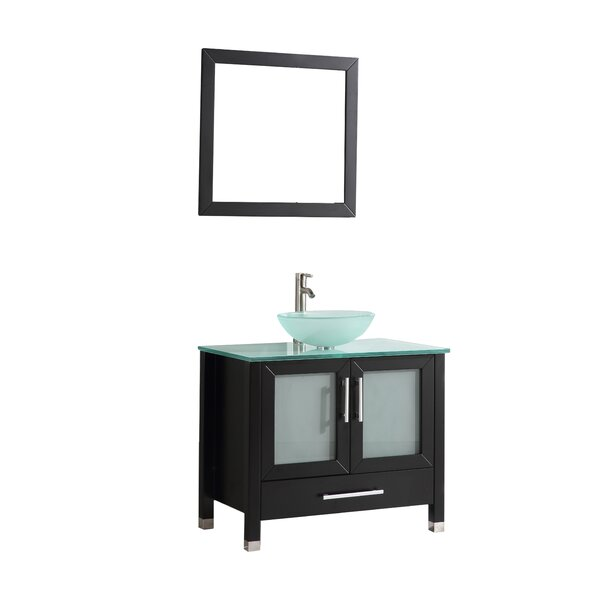 Prado 36 Single Sink Bathroom Vanity Set with Mirror by Orren Ellis
