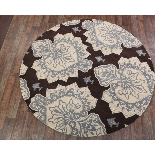 Bovill Agra Oriental Hand-Tufted Wool Beige Area Rug by Canora Grey