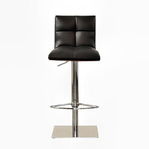 The Quilt Adjustable Height Swivel Bar Stool by RMG Fine Imports