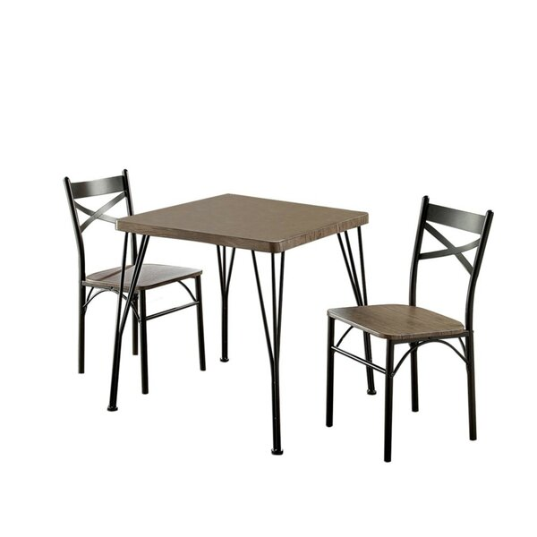 Deaton 3 Piece Dining Table Set by Williston Forge