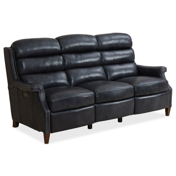 Review Allay Leather Reclining Sofa