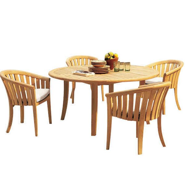 Matherly 5 Piece Teak Dining Set by Rosecliff Heights
