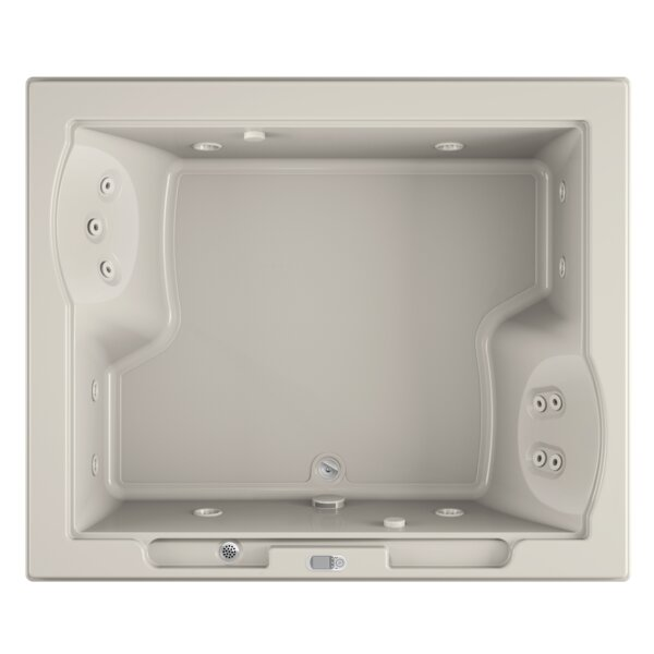 Fuzion Chroma LCD Left-Hand 72 x 60 Drop-In Whirlpool Bathtub by Jacuzzi®