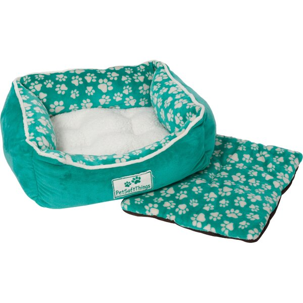 Dog Paw Pet Bed with Removable Pillows by Pet Soft Things