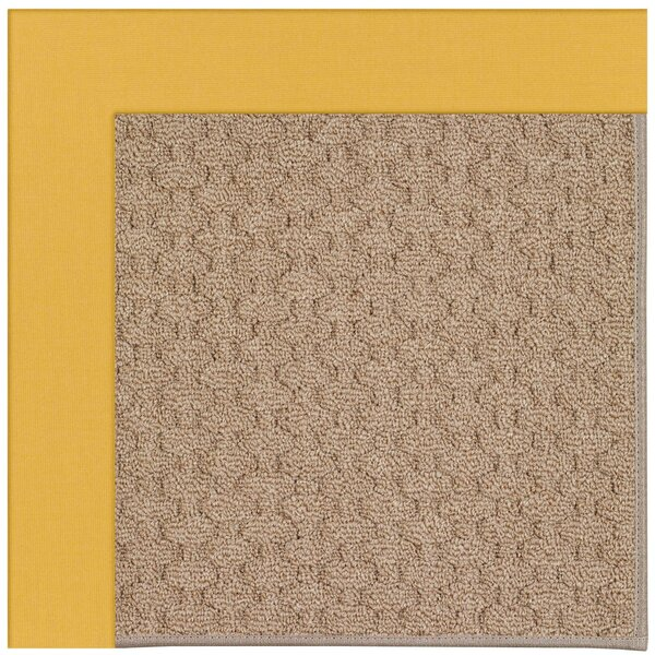 Lisle Machine Tufted Jonquil/Brown Indoor/Outdoor Area Rug by Longshore Tides