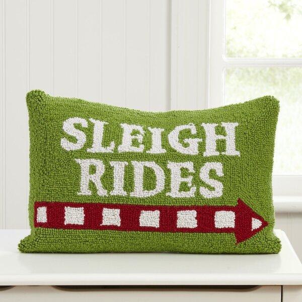 Sleigh Rides Hooked Pillow by Birch Lane Kids™
