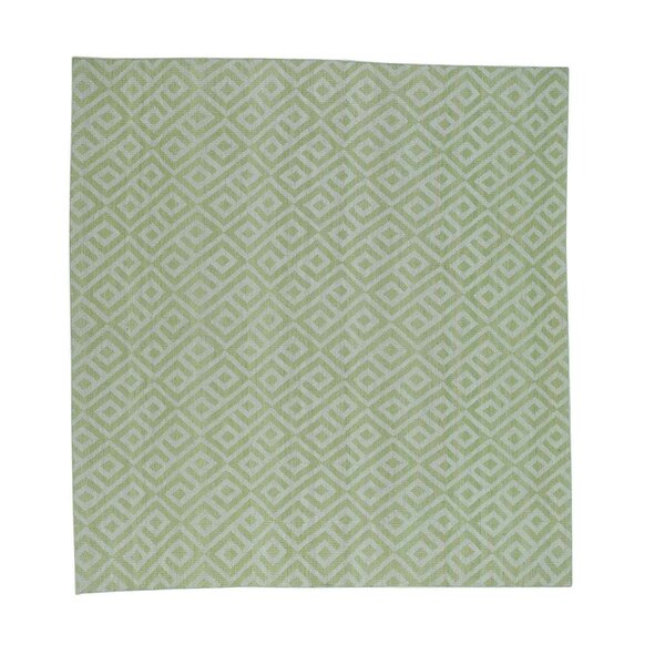 Flat Weave Reversible Kilim Hand-Knotted Green Area Rug by Bungalow Rose