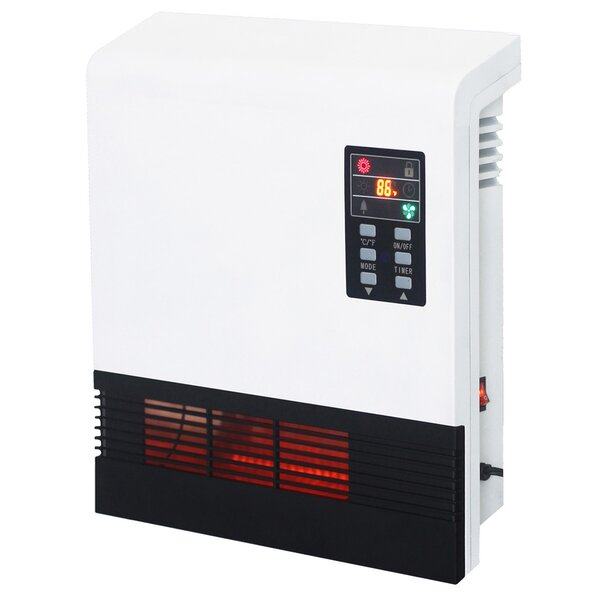 5200 BTU Wall Mounted Electric Infrared Heater by