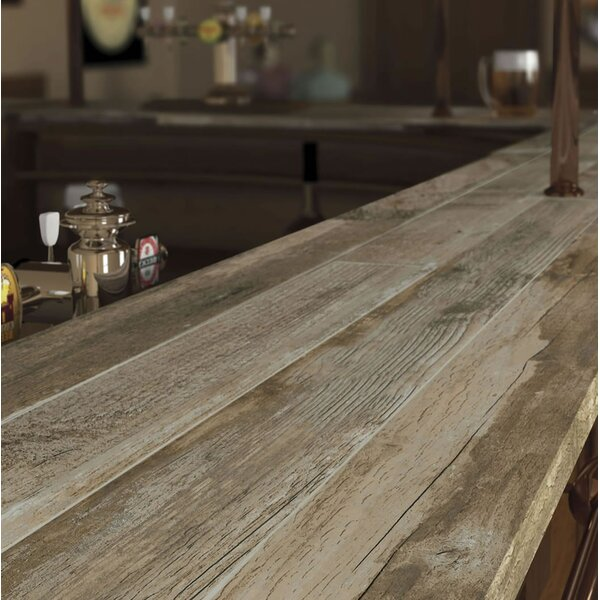 Salvage 6 x 40 Porcelain Wood Tile in Glazed Brown by MSI
