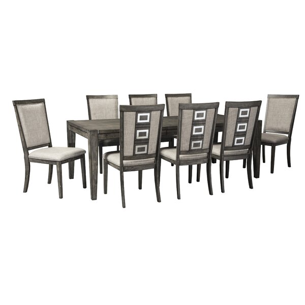Barr 9 Piece Dining Set by World Menagerie World Menagerie