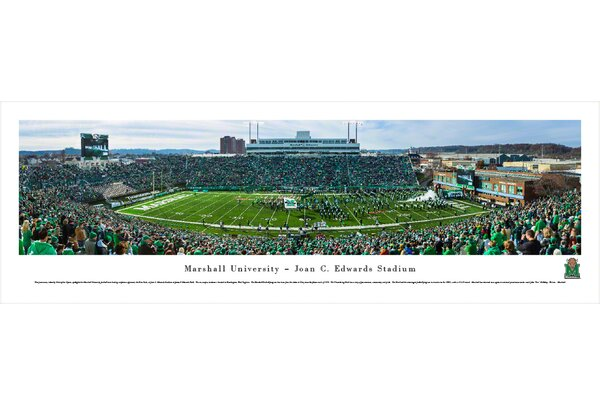 NCAA Marshall University - Football - End Zone by Christopher Gjevre Photographic Print by Blakeway Worldwide Panoramas, Inc