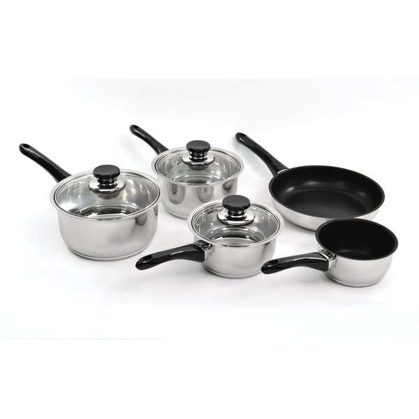 Vision 14 Piece Non-Stick Stainless Steel Cookware Set by BergHOFF International