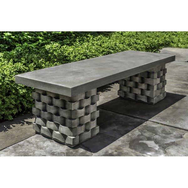 Anaya Stone Garden Bench by August Grove