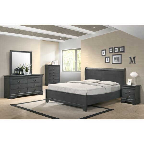 Manorhaven Platform 5 Piece Bedroom Set by Charlton Home