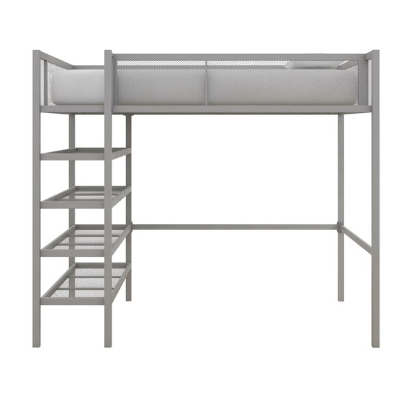 Debbi Twin Loft Bed With Bookcase By Harriet Bee by Harriet Bee Great price