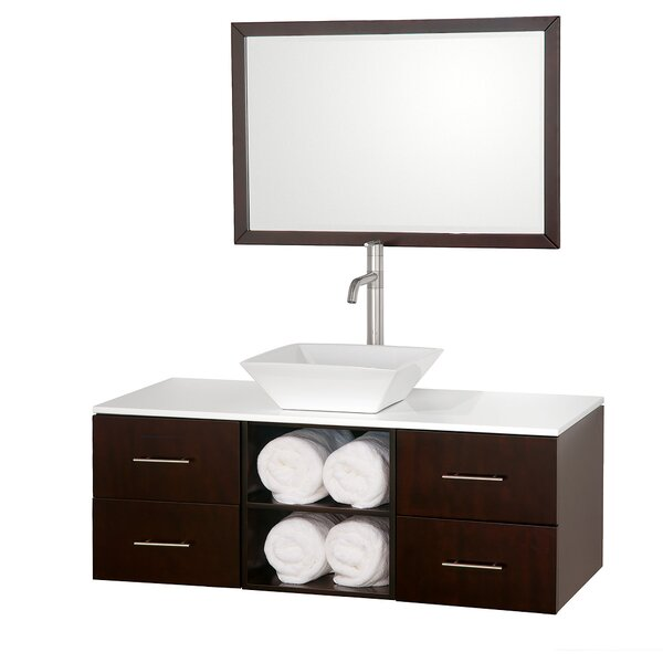 Abba 48 Single Bathroom Vanity Set with Mirror by Wyndham Collection