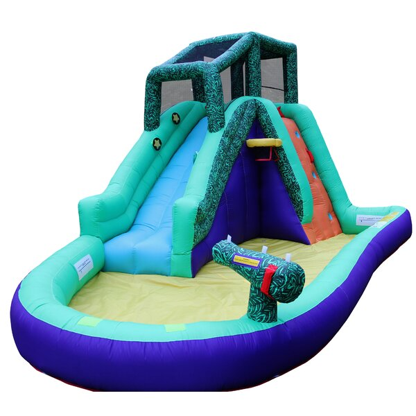 Inflatable Safari Splash With Lited Slideway Game By Wonderbounz.
