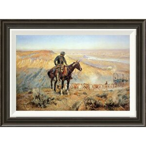 'The Wagon Boss' by Charles M. Russell Framed Painting Print by Global Gallery