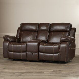 Chestnut Double Gliding Reclining Loveseat
