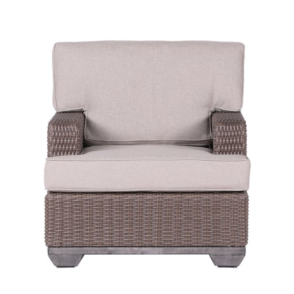 Kovacs Patio Chair with Cushion (Set of 2) by Bayou Breeze