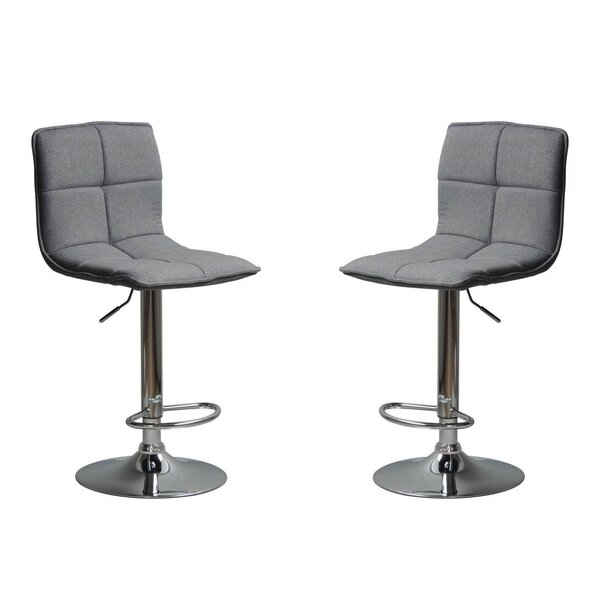 Mancini Adjustable Height Bar Stool (Set of 2) by Brayden Studio