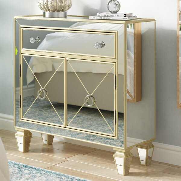 Farah Mirrored 2 Door Accent Cabinet by Willa Arlo Interiors