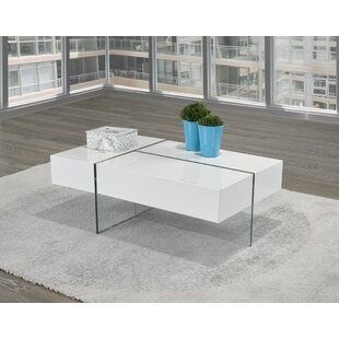 Extendable Coffee Table with Storage Brassex