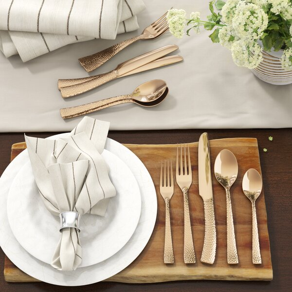 "Ambridge Hammered Flatware Set by Birch Laneâ""¢ Heritage"