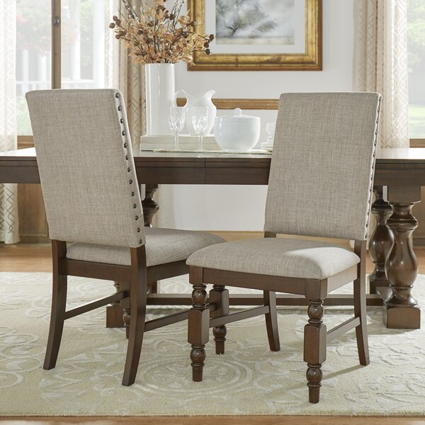 Dublin Upholstered Dining Chair (Set of 2) by Three Posts