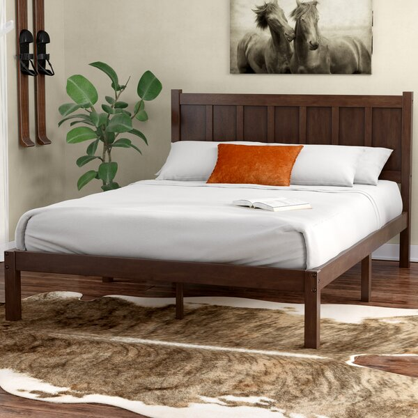 Talia Rustic Style Platform Bed By Union Rustic by Union Rustic Best #1