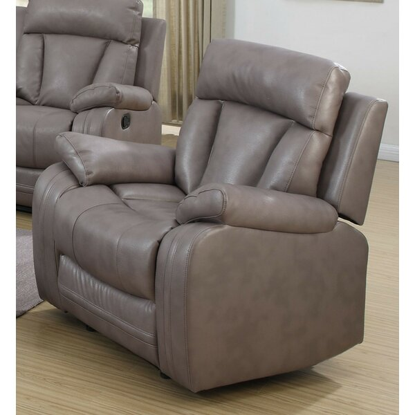 Modesto Leather Recliner by Chintaly Imports